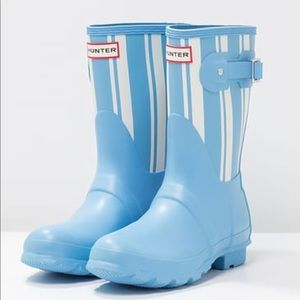 🆕 HUNTER light blue rainboots- size 6